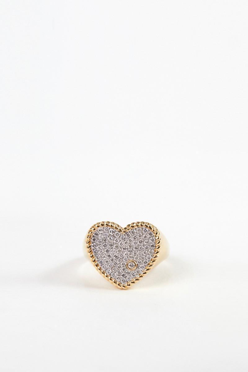 Yvonne Leon Ring 'Chevlier Coeur' mit Diamanten Gold