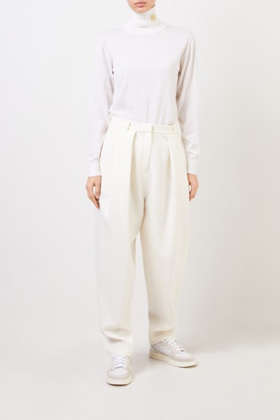 Magda Butrym Wool pleated trousers 'Shaldon' Cream