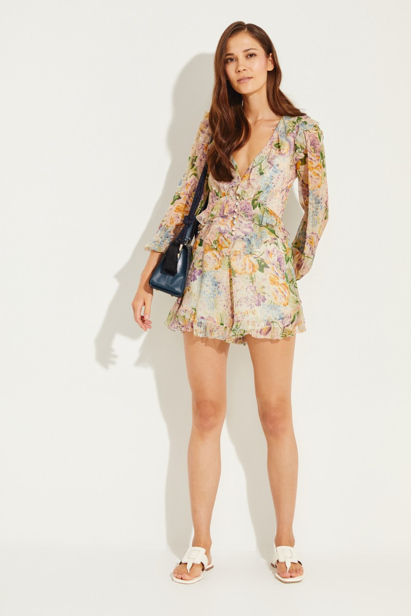 ba2e8a7be073 Silk-Jumpsuit with ruffles Multi