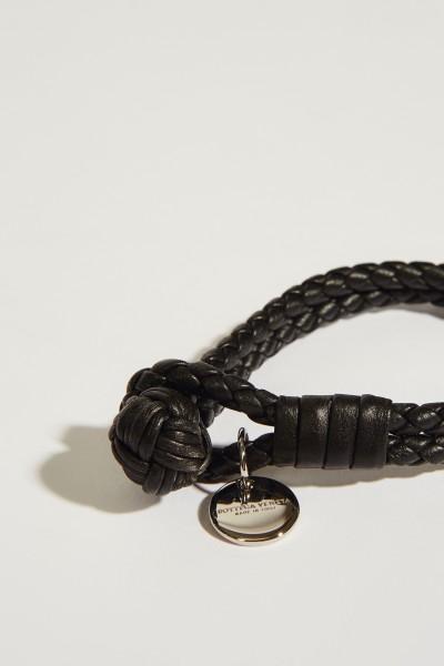 Bottega Veneta Geflochtenes Armband Schwarz