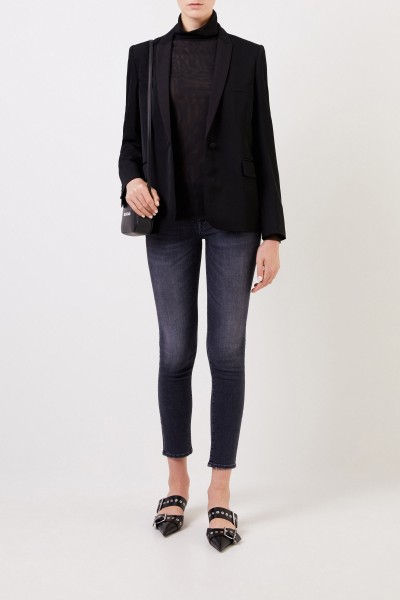 Fine turtleneck shirt Black