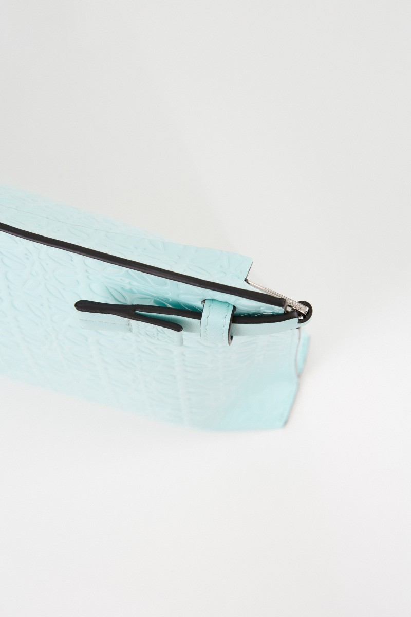 Loewe Clutch 'Pouch Repeat'' mit Logo Mint