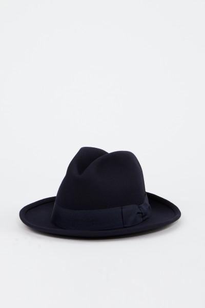 Ami Klassischer Woll-Hut Marineblau