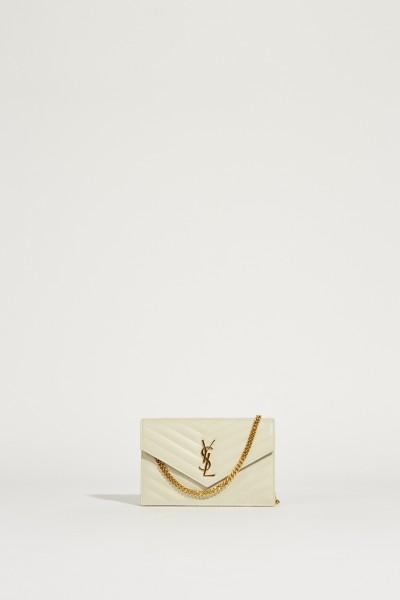 Umhängetasche 'Monogram Wallet' Crème