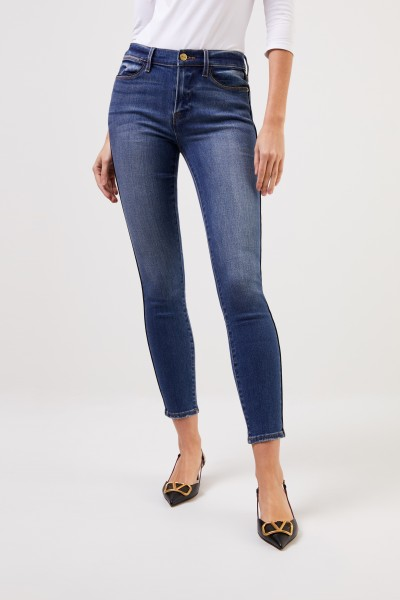 Frame Skinny jeans 'Le High Skinny' with detail Blue