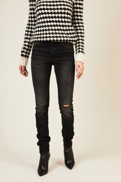 Skinny Jeans mit leichter Auswaschung Anthrazit