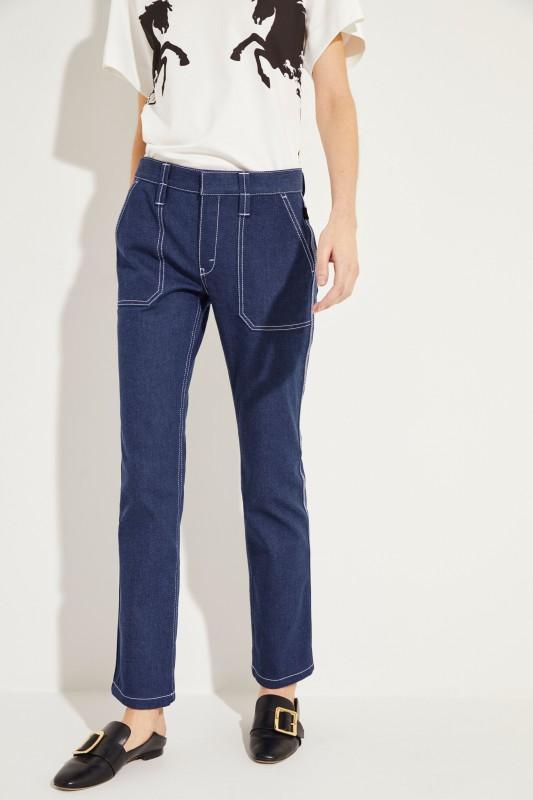 Jeans mit Ziernähten Ultramarine