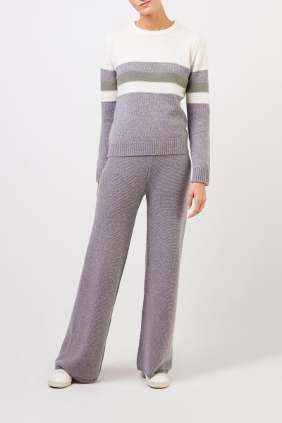 Uzwei Cashmere pullover in colorblock Multi/Sage