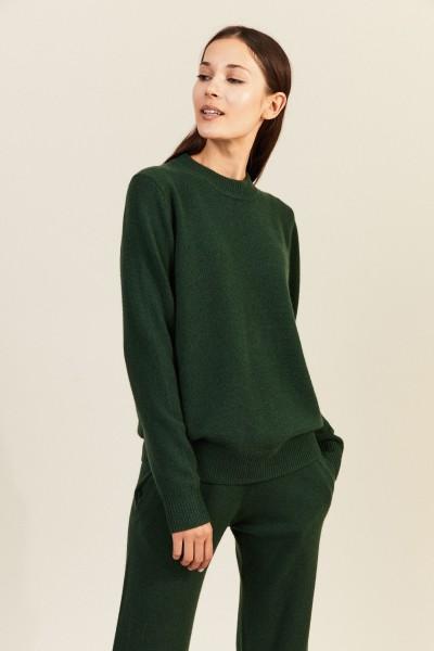 Cashmere-Pullover Grün