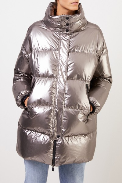 Herno Down coat with stand-up collar Silver Grey