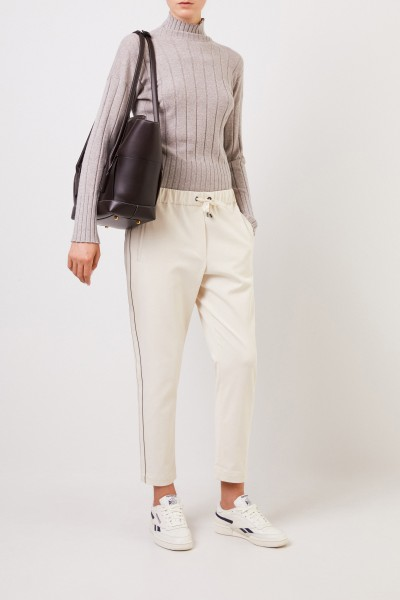 Cashmere pullover with turtleneck Grey