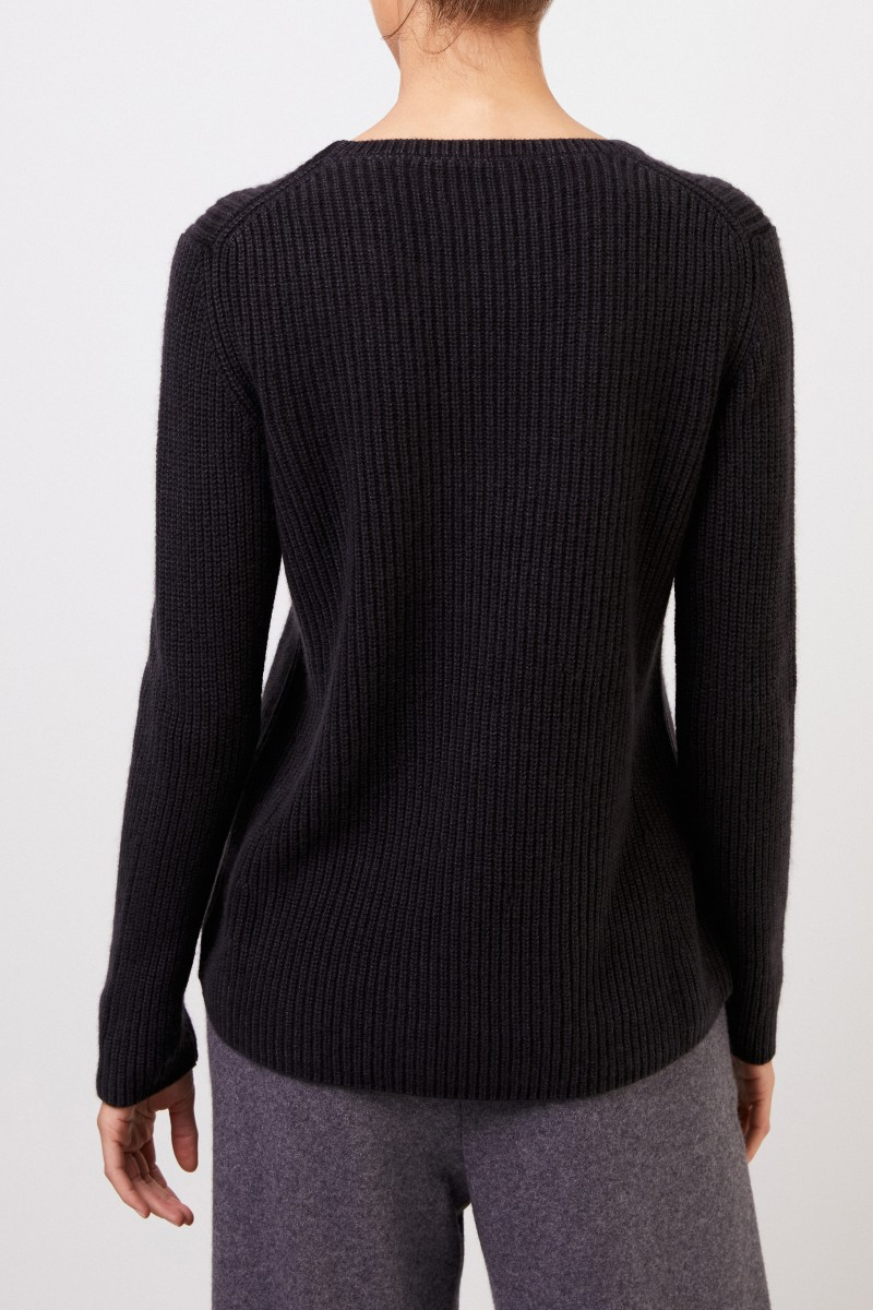 Cashmere-Pullover 'Sessanio' Schwarz