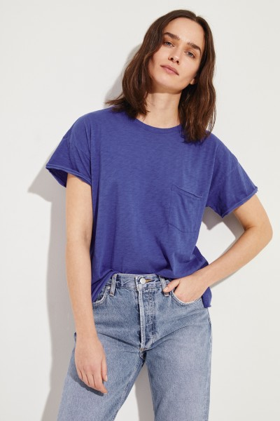 Baumwoll-Shirt 'Vintage Pocket' Violett