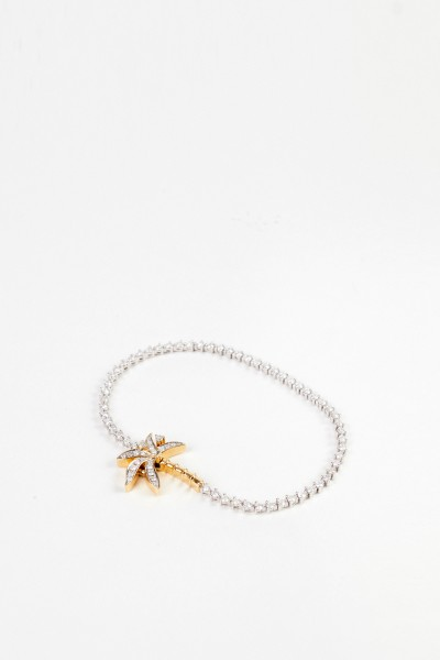 Yvonne Leon Bracelet 'Riviere Palmiere' with diamonds Whitegold