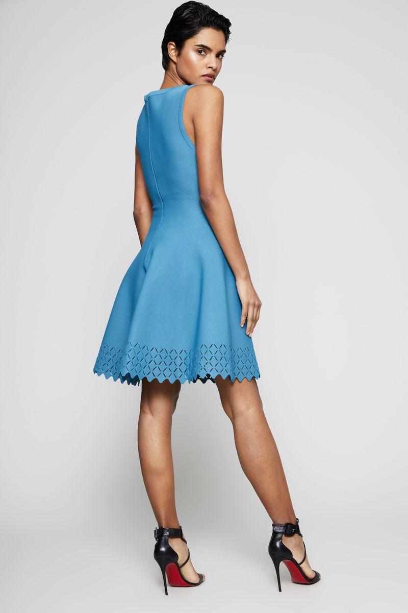 Tailliertes Kleid 'Diamant' mit Cut-Outs Petrol