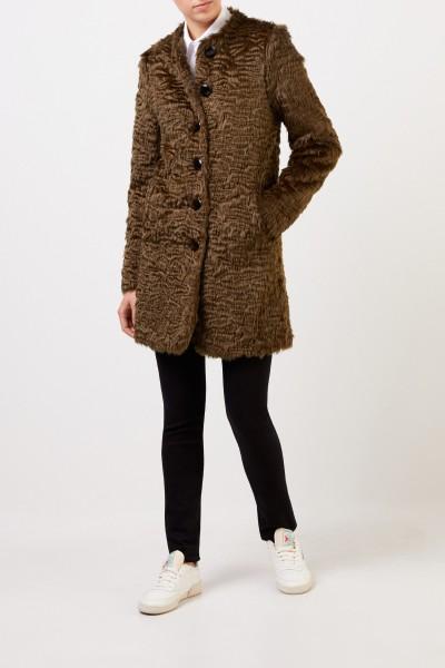 Steffen Schraut Short fake fur coat Blue