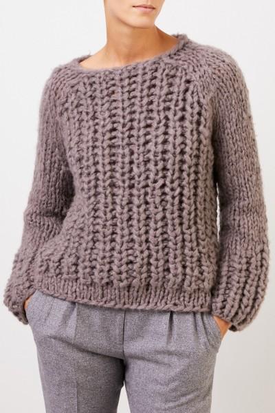Iris von Arnim Handstrick-Cashmere-Pullover 'Leny' Taupe