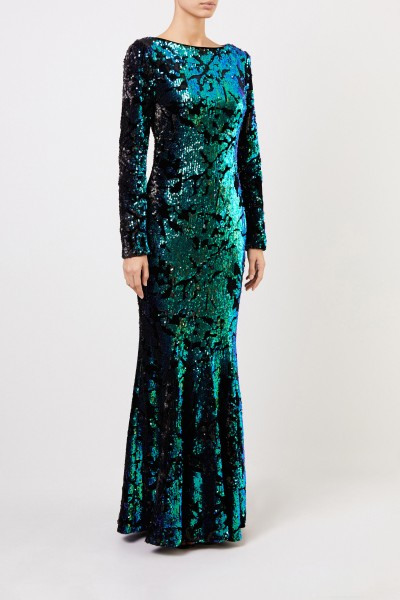 Talbot Runhof Long sequin dress 'Lorena 4' black/multi