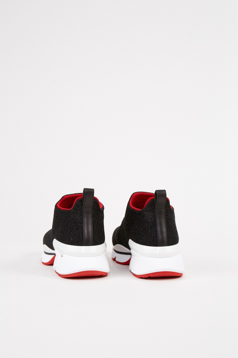 Christian Louboutin Sneaker 'Crestirun' mit Metallic-Look Schwarz/Multi