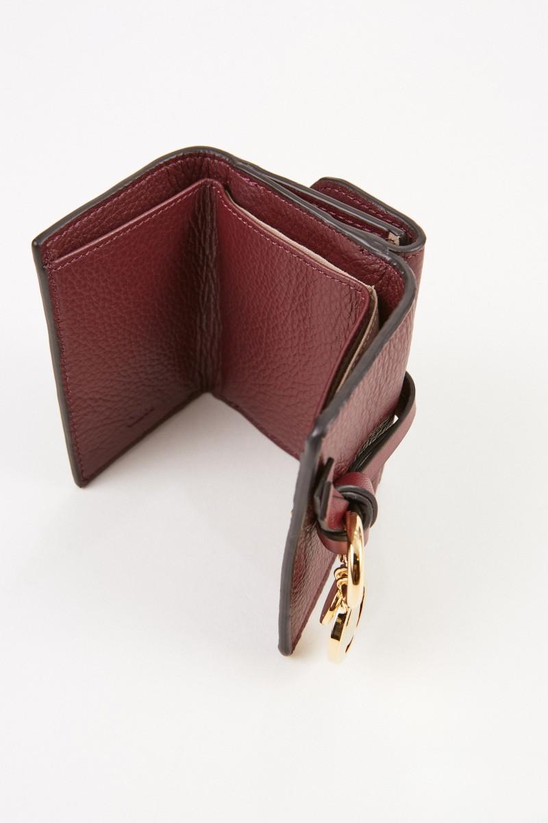 Chloé Mini-Portemonnaie 'Alphabet Coin' Burnt Mahagony