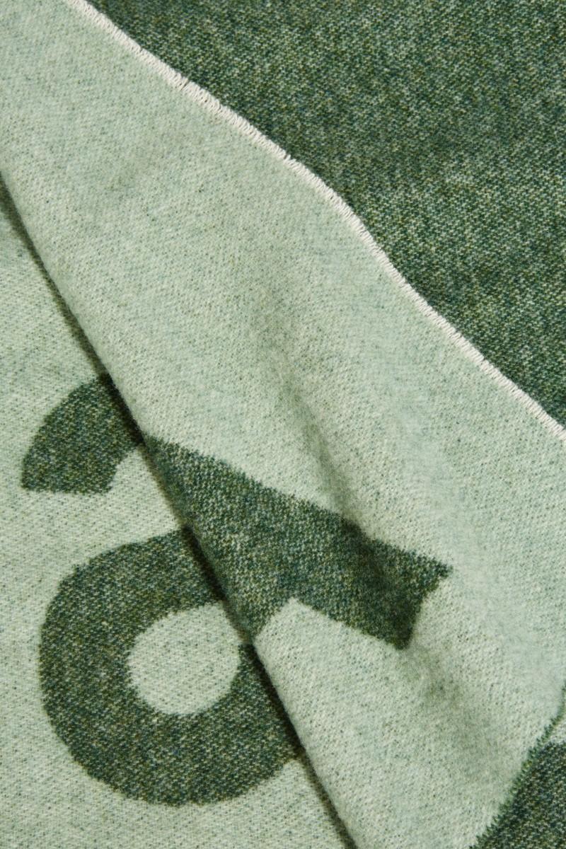 Klassischer Wollschal 'Toronty Logo' Grün