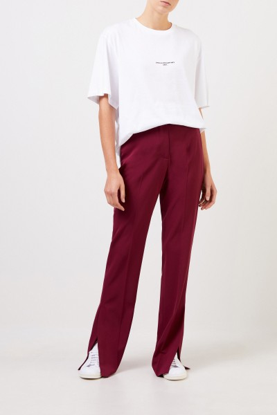 Stella McCartney Classic trousers with slit detail Burgundy