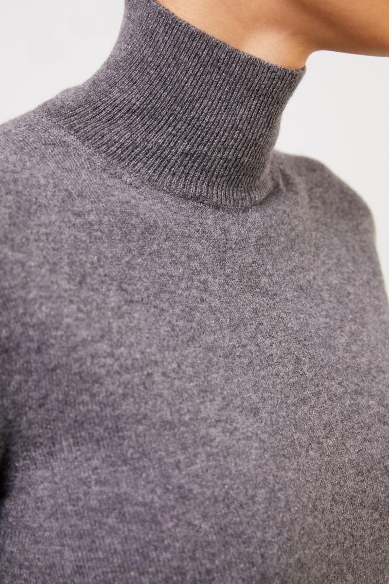 Agnona Cashmere-Pullover mit Turtleneck Grau