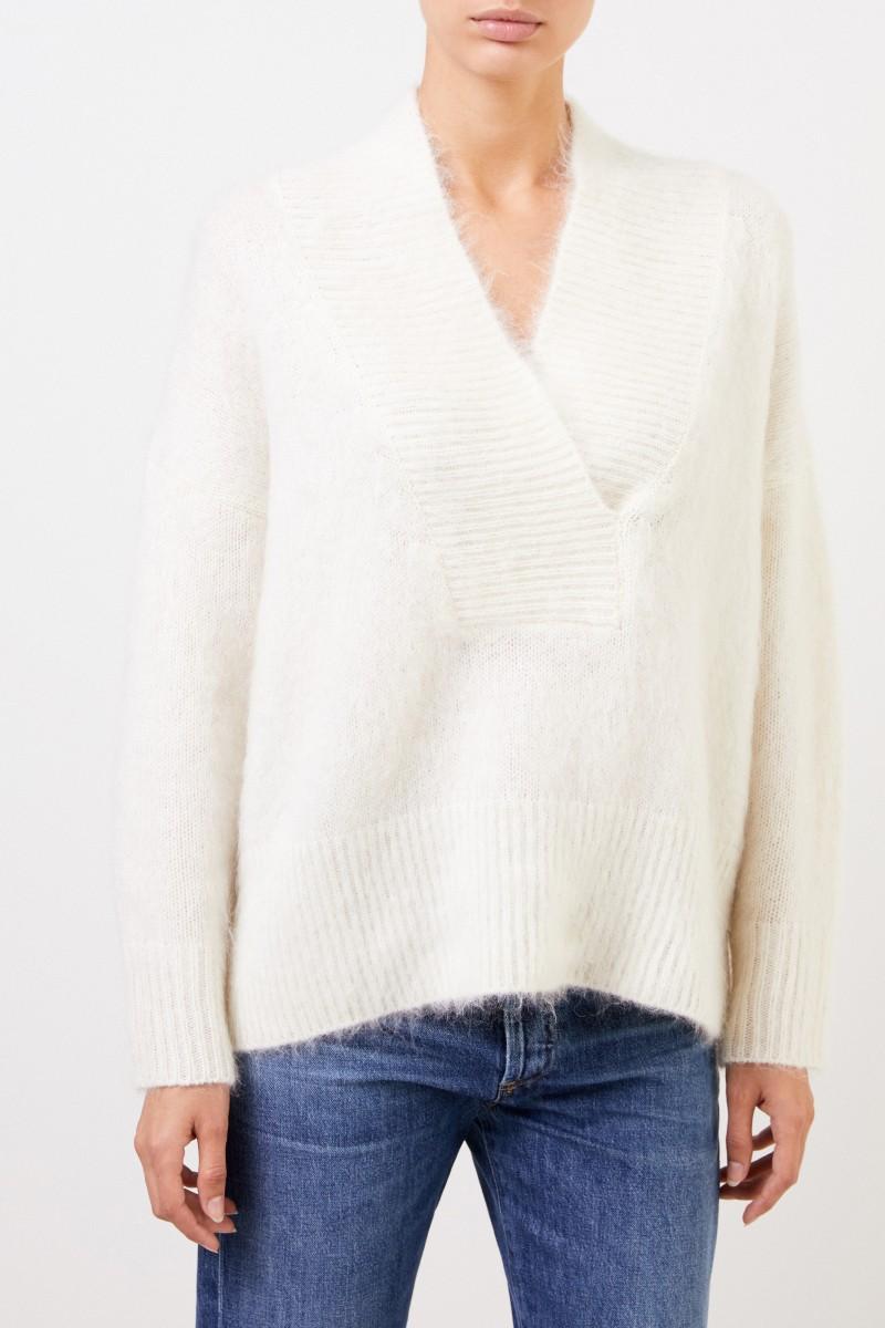 Agnona Woll-Cashmere Pullover Crème