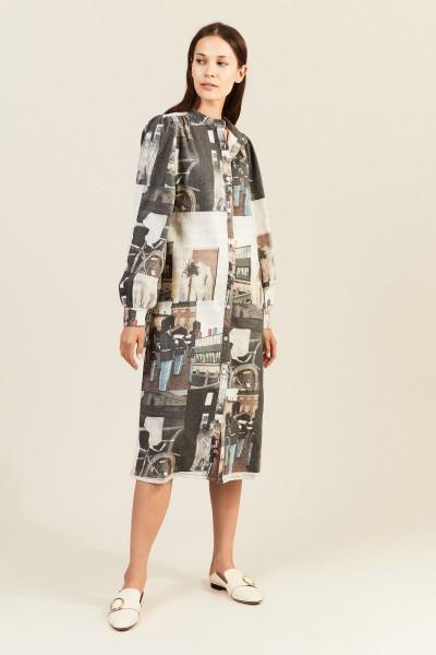 Jeanskleid mit Print Multi