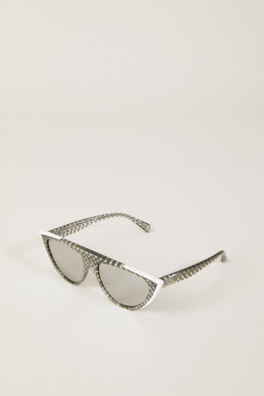 Sonnenbrille 'Miss J' Silber/Weiß