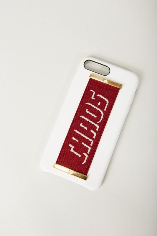 Iphone 7/8+ Case 'Hand Hug' Weiß