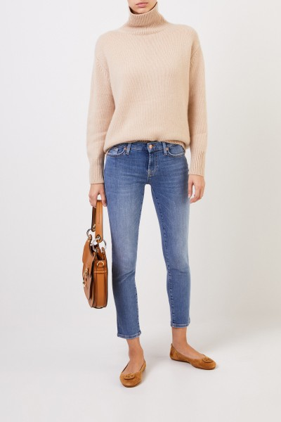 Cashmere pullover with turtleneck Beige