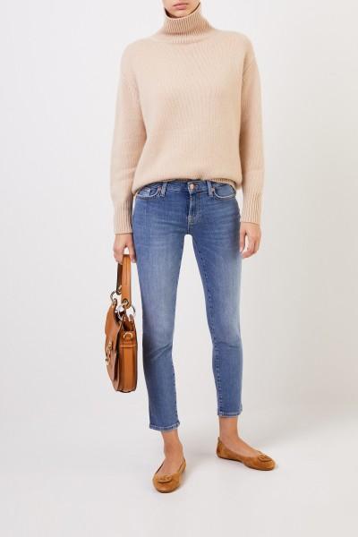 Cashmere-Pullover mit Turtleneck Beige