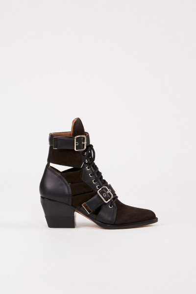 Chloé Suede leather ankle boots 'Rylee' Black/Brown