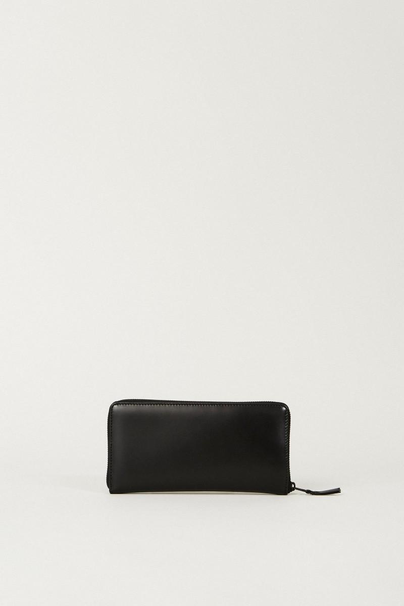 Leder-Portemonnaie Schwarz