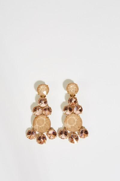 Ohrringe mit Steinen Rosé