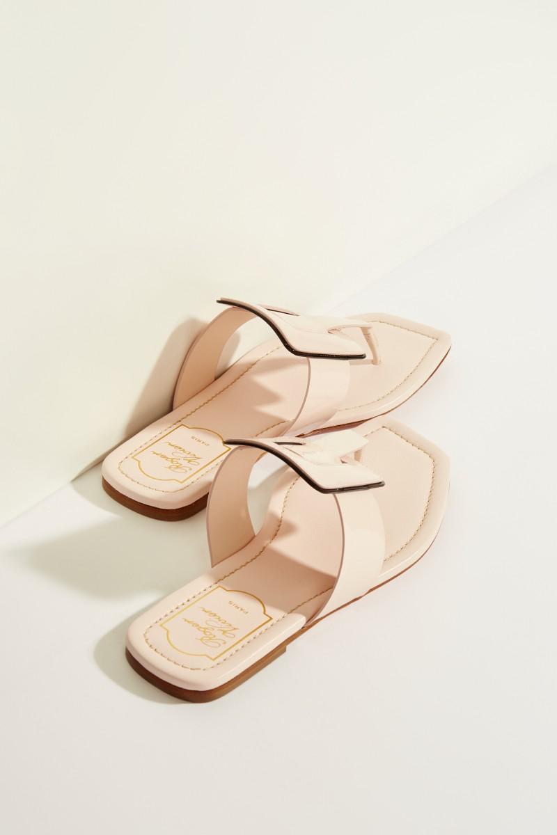Lackleder-Sandale 'Viv Sellier Thong' Rosé