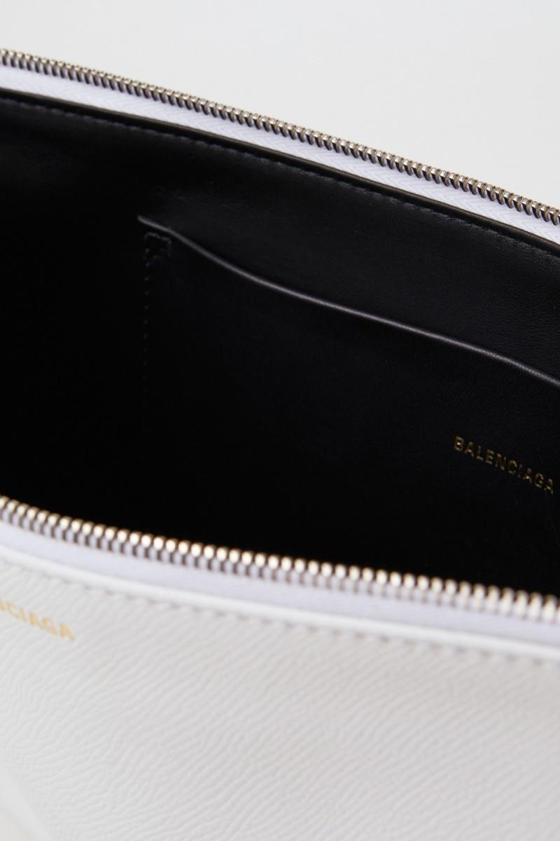 Balenciaga Clutch 'Ville Pouchette' Medium Weiß
