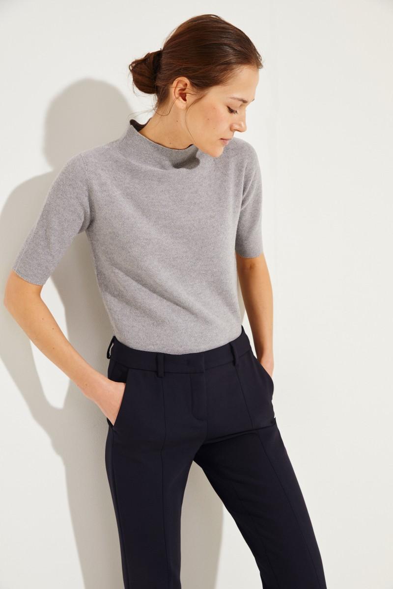 Turtleneck-Pullover Grau