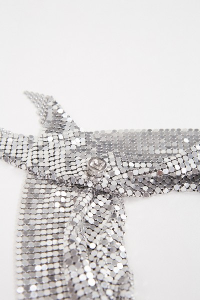 Paco Rabanne Scarf made of metal mesh silver