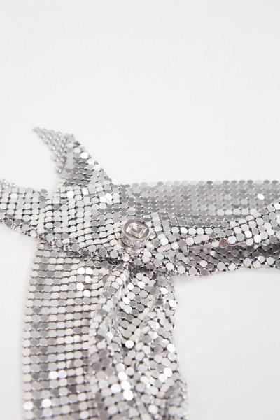 Paco Rabanne Schal aus Metallmesh Silber