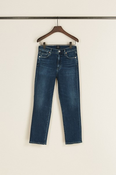 High Rise Cigarette Ankle Jeans 'Cara' Blau