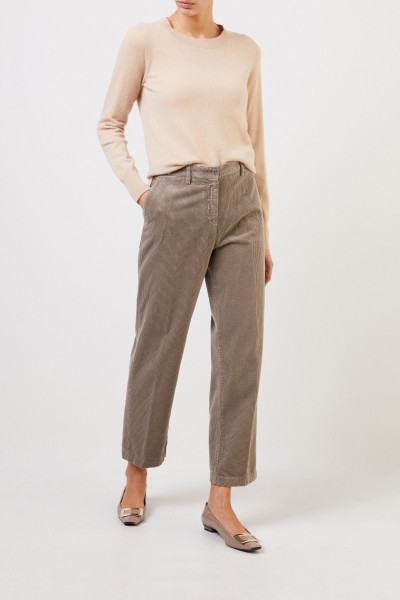 Classic corduroy trousers Taupe