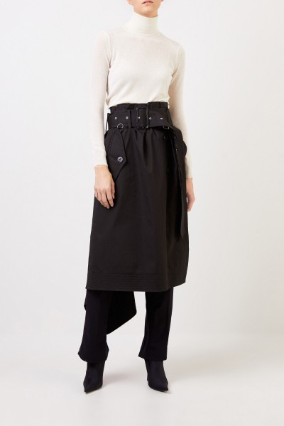 Wool pants with skirt detail Black/Blue