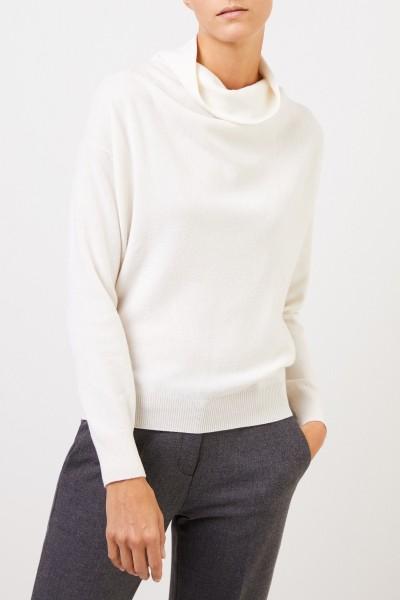 Agnona Cashmere-Pullover mit Turtleneck Weiß