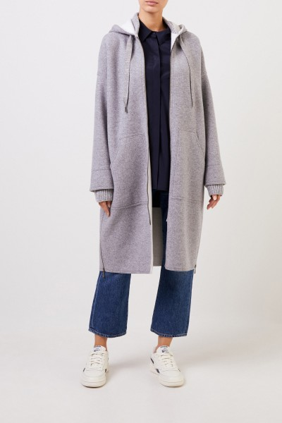 Lorena Antoniazzi Wool coat with hood Grey