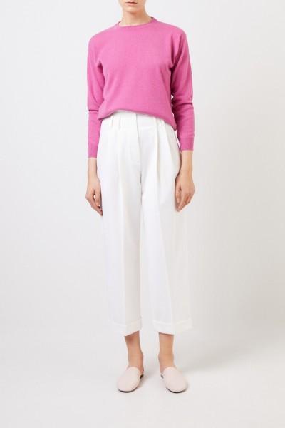 Brunello Cucinelli Klassischer Cashmere-Pullover Pink