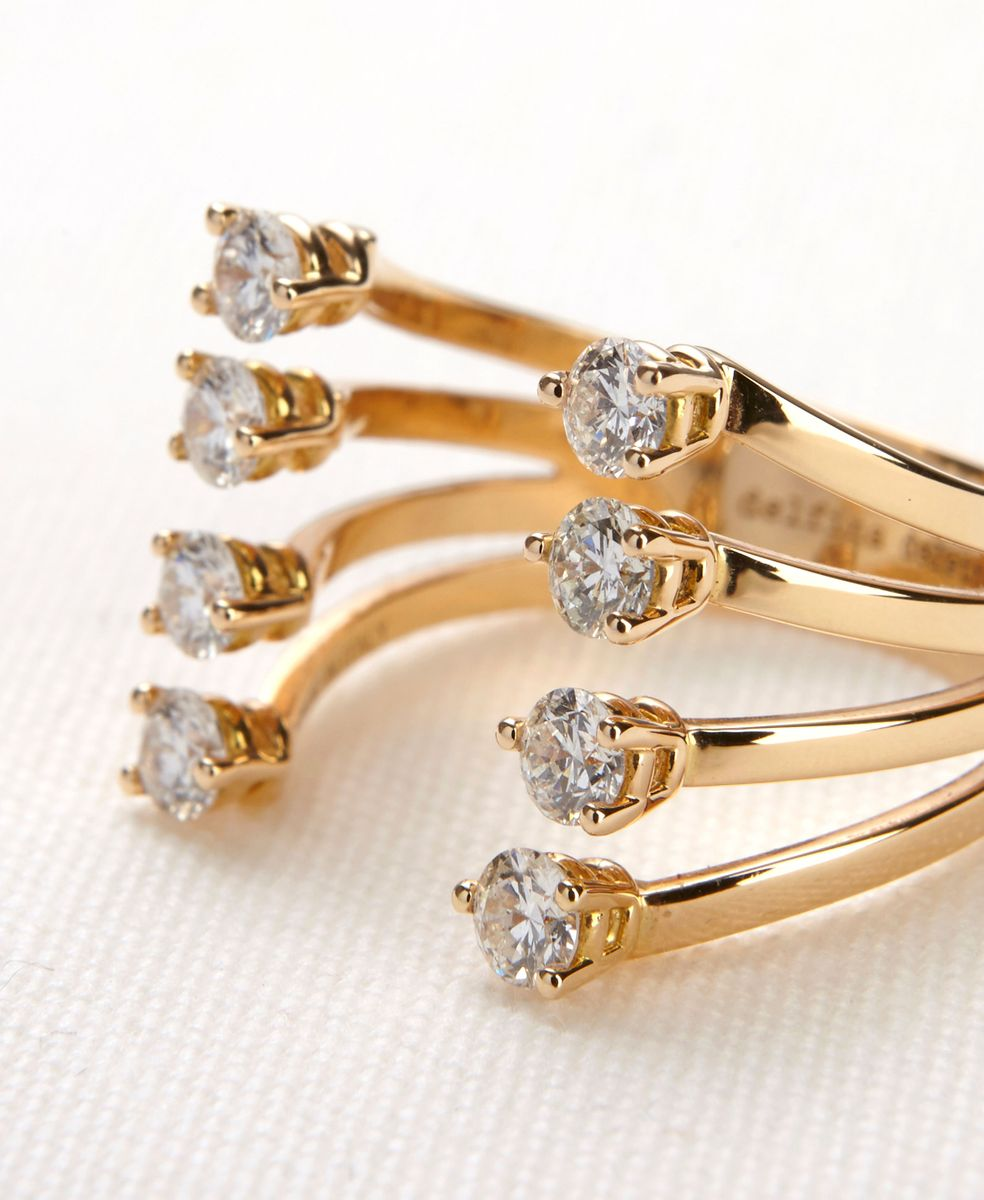 Delfina Delettrez Ring 'Dots' mit Diamanten 18K Rotgold