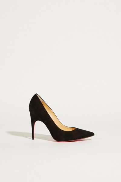 Suede Leather Pump 'Alminette' Black