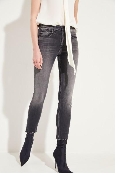 High Rise Skinny Jeans Grau